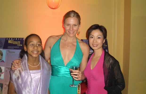 2006 Golden Goggles Award – Lia and Tiffany with Olympic Gold Medalist Jenny Thomson