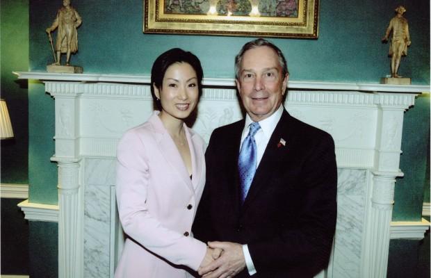 2008 Lunar New Year Celebration – Tiffany with NYC Mayor Michael Bloomberg